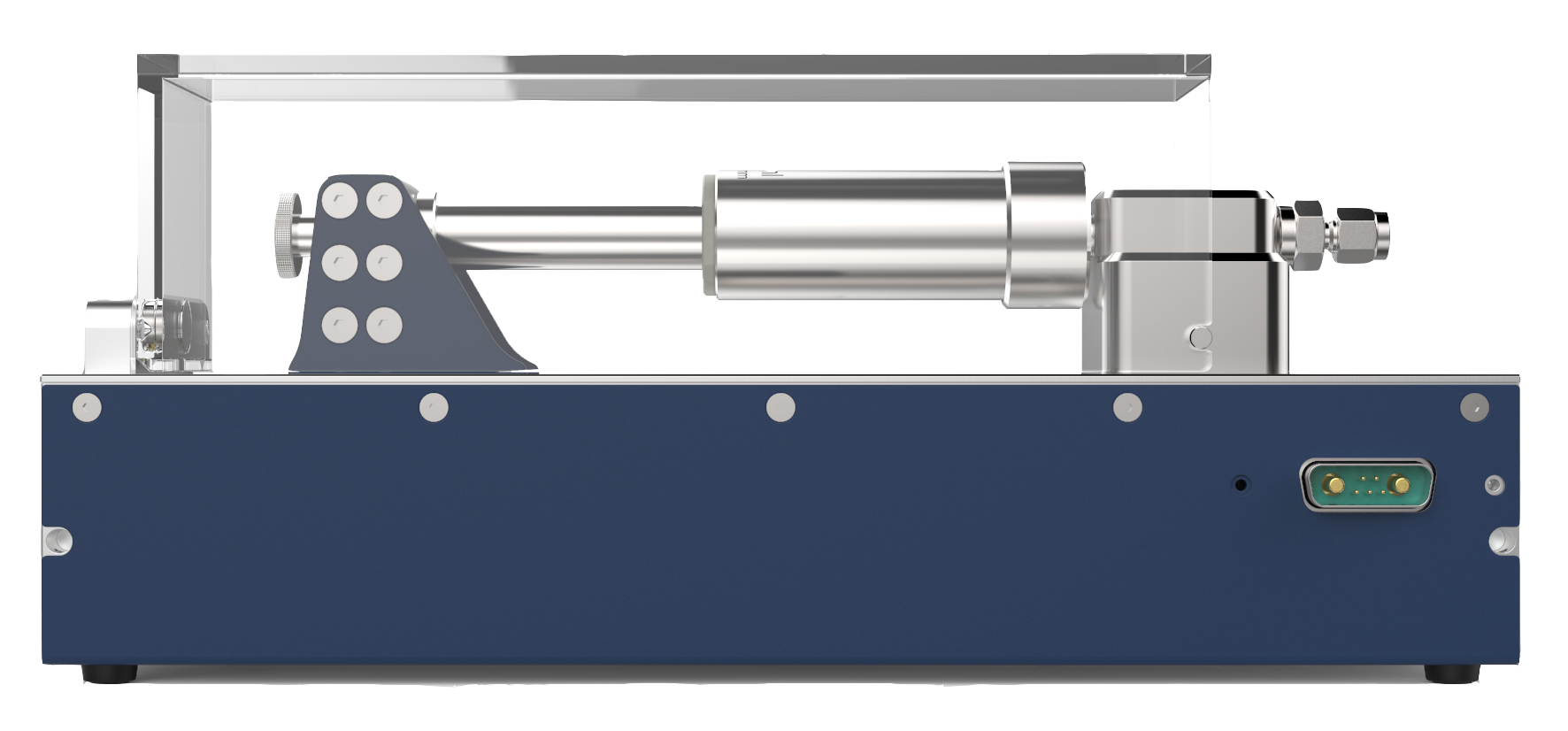Nemesys high pressure module with syringe side view